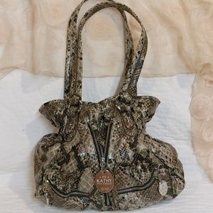 Faux Snakeskin Hobo Bag by Kathy Van Zeeland